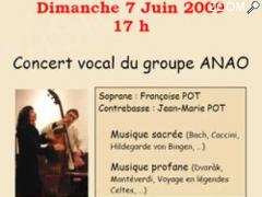 photo de Concert vocal du groupe ANAO (voix-contrebasse)