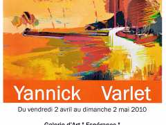 photo de Yannick VARLET à la galerie d'art de Saint Gengoux le National